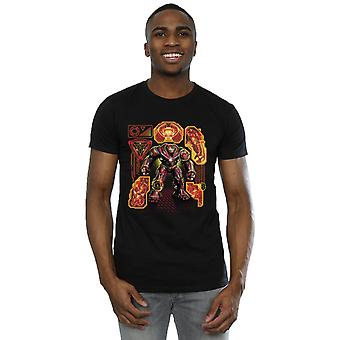 Avengers Men's Infinity War Hulkbuster Blueprint T-Shirt