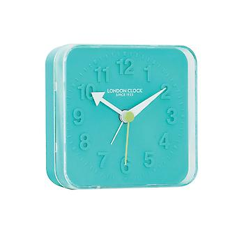 London Clock 1922 8cm Spark Teal Blue Alarm Clock