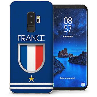 Samsung Galaxy S9 Plus Frankrijk voetbal Shield TPU Gel geval-Blue
