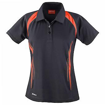 Spiro Ladies Colours Sports Team Training Spirit Short Sleeve Polo Shirt