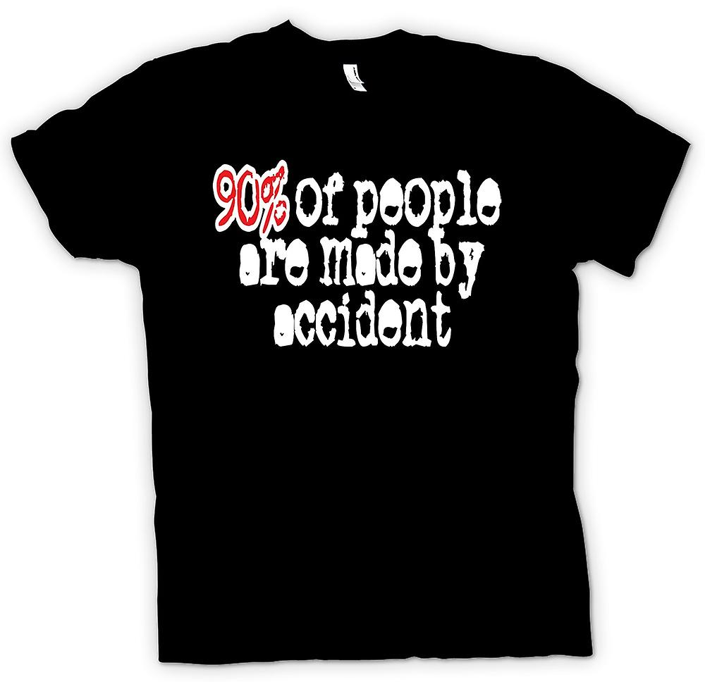 Mens T-shirt-90 % des gens se font par accident - Devis