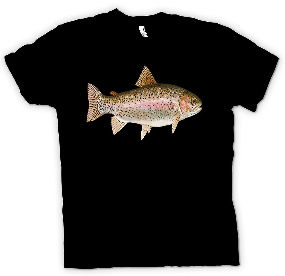 Mens t-skjorte - jeg elsker regnbueørret - fiske