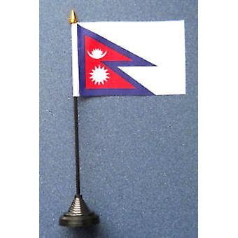 Nepal-Tischfahne mit Stick und Base