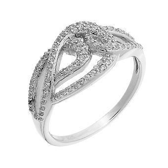 Orphelia Silver 925 Ring 3 Line  Zirconium   ZR-3879