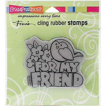 Stampendous Cling Stamp -Chunky Greeting
