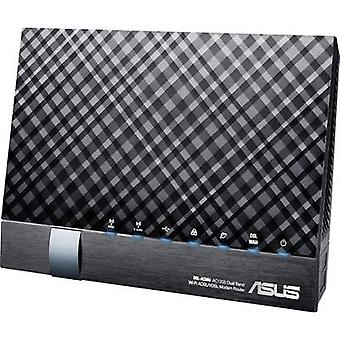 Asus DSL-AC56U Wi-Fi modem router Built-in modem: VDSL, ADSL2+, ADSL 2.4 GHz, 5 GHz 1.2 Gbit/s