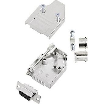 D-SUB receptacle set 180 ° Number of pins: 9 Solder bucket encit