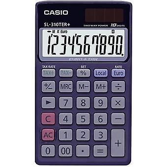 Casio SL-310TER+ Calculadora de bolsillo Blue Display (dígitos): 10 energía solar, alimentado por batería (ancho x alto x ancho) 70 x 8 x 118,5 mm mm