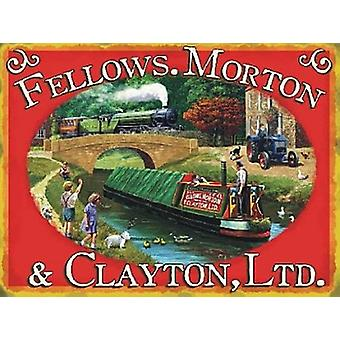 Fellows, Morton And Clayton Large Steel Sign 400Mm X 300Mm