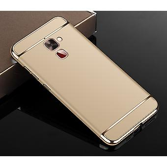 Cell phone cover case for LeEco Le 2 bumper 3 in 1 cover chrome case gold