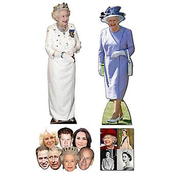 Queen Elizabeth II 90th Birthday Commemorative Pack C - includes Lifesize Cutouts Masks and Photo