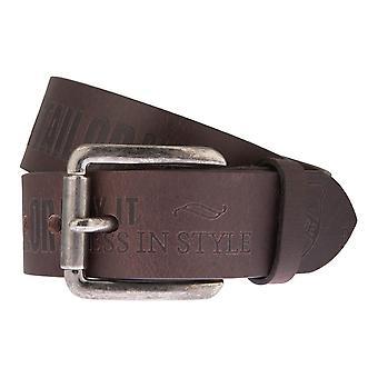 TOM TAILOR belt leather belts men's belts men's leather belts can be shortened Brown 2424