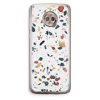Motorola Moto G6 Transparent Case (Soft) - Terrazzo N°4