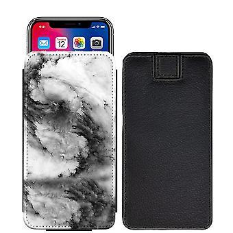 Marmorkugler specialdesignet udskrives trække fanen pose telefon tilfælde dække for Huawei P8 Lite (2017) [S] - Marble03