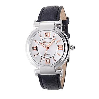 Ladies Girls Analogue Smart Rose Gold Silver Watch Watches Kids Black Strap