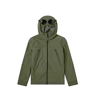 C.P. Company Undersixteen C.P. Company Undersixteen Sage Green Goggle Hood Soft Shell Jacket