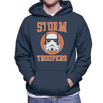 Original Stormtrooper Orange College Text Men's Hooded Sweatshirt
