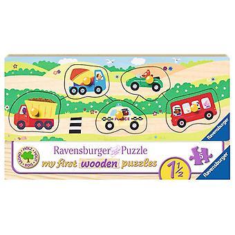Ravensburger Houten puzzel voertuigen