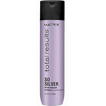 Totale risultati a colori a matrice ossessionato così argento Shampoo 300 ml