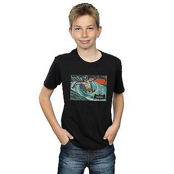 DC Comics Boys Batman TV Series Whirlpool T-Shirt