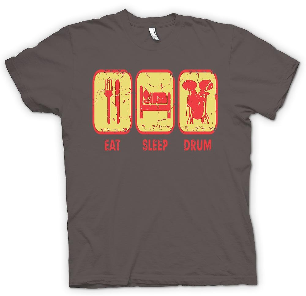 Womens T-shirt - Eat Sleep Drum - Cool Drummer