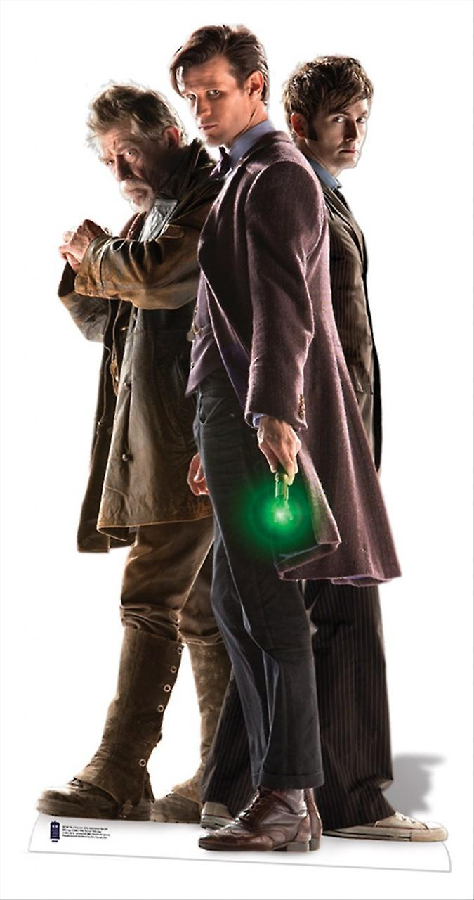 The Three Doctors Lifesize Cardboard Cutout / Standee - Doctor Who 50th Anniversary Special
