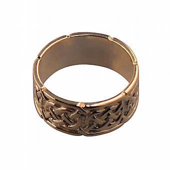 9ct Rose Gold 8mm Celtic Wedding Ring Size L