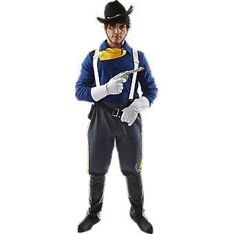 Orion Costumes Mens USA Cavalry Soldier Cowboy Fancy Dress Costume