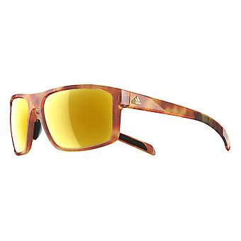 Adidas a423 6064 Brown Havana Whipstart Rectangle Sunglasses Cycling, Running, Driving Lens Category 3 Lens Mirrored Size 61mm