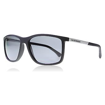 Emporio Armani EA4058 506381 Matte Black EA4058 Square Sunglasses Polarised Lens Category 3 Size 58mm