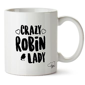 Hippowarehouse Crazy Robin Lady Printed Mug Cup Ceramic 10oz