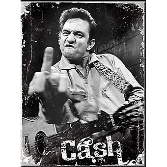 Johnny Cash Finger stål kylskåpsmagnet (na)