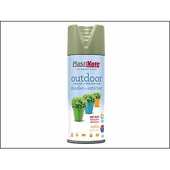 OUTDOOR SATIN SPRAY 400ML EVERGLADE