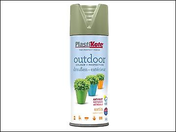 Plasti-kote Outdoor Satin Spray Everglade 400ml