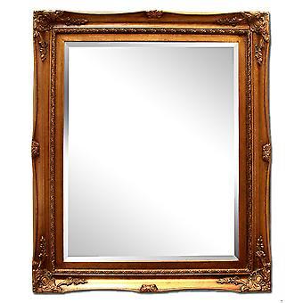 Yttermått 32x37 cm, spegel i guld