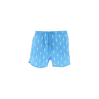 Neil Barrett Light Blue Polyester Trunks