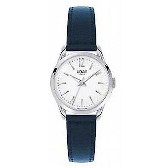 Henry London Knightsbridge Blue Leather Strap White Dial HL25-S-0027 Watch