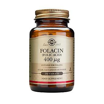 Solgar, Folacin (Folic Acid) 400 ug Tablets , 250
