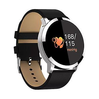 Stuff Certified® Original Q8 Smartband sport SmartWatch smartphone horloge OLED iOS Android zilver leder