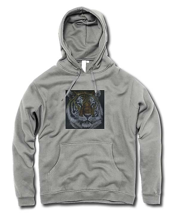 Mens hettegenser - Tiger - Wildlife