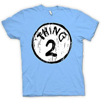 Mens T-shirt - Thing 2 - Cat in A Hat