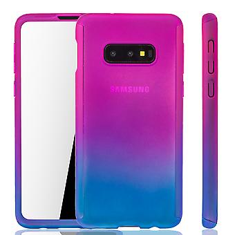 Samsung Galaxy S10e Phone Case Protection Case Full Cover Tank Protection Foil Pink/ Blue