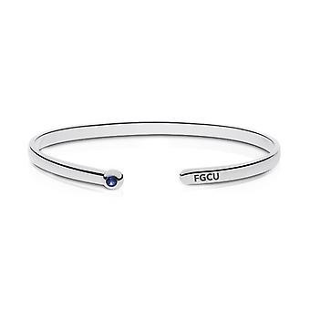 Florida Gulf Coast University Fgcu Engraved Sapphire Cuff Bracelet