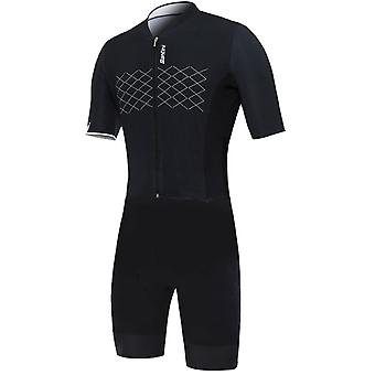 Santini Black 2019 Redux TT Short Sleeved Cycling Suit