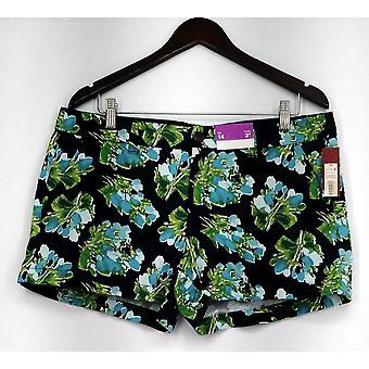 Merona rits & knop sluiting shorts w/zakken Navy Blue Womens