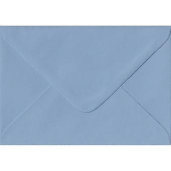 Wedgwood Blue Gummed A5 Coloured Blue Envelopes. 100gsm FSC Sustainable Paper. 152mm x 216mm. Banker Style Envelope.