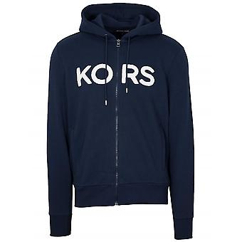 Michael Kors  Michael Kors Navy Blue Zipped Hooded Sweatshirt
