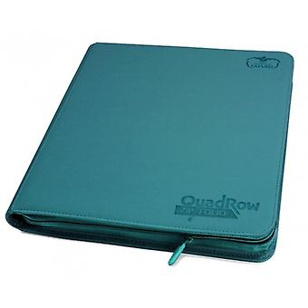 Ultimate Guards-QuadRow Zipfolio-480 Cards-PETROL BLUE