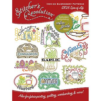 Stitcher's Revolution Iron On Transfers Spice Of Life Sr 25