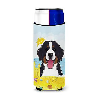 Bernese Mountain Dog Summer Beach Michelob Ultra Koozies for slim cans BB2105MUK